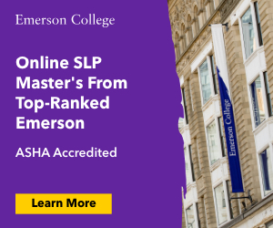 Emerson College Online Master of SLP Program